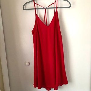 Lush strappy red dress - Size M